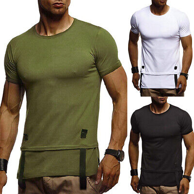 Men's Slim Fit O Neck Short Sleeve Muscle Tee Shirt Summer Casual Tops T-Shirts
