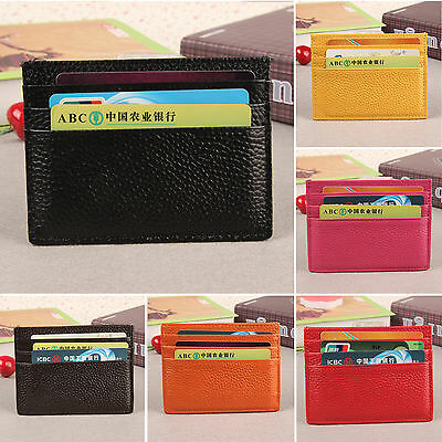 Women Mens Slim ID Credit Card Holder Case Purse Protector Leather Pocket Wallet