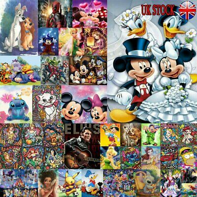 Full Drill 5D Diamond Painting Embroidery Cross Craft Art Mickey Character UJ