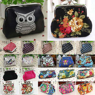 Vintage Clutch Change Coin Purse Womens Ladies Kids Girls Small Mini Wallet Gift