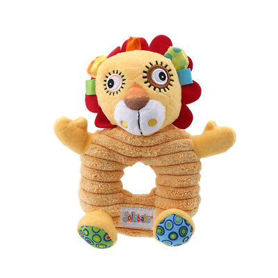 Baby Early Education Animal Arm Stick Bell Hand Rattle Sound Kids Toy Grip SO