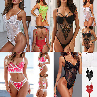 Summer Lingerie V-Neck Floral Lace Babydoll Sexy Lingerie For Women New LO