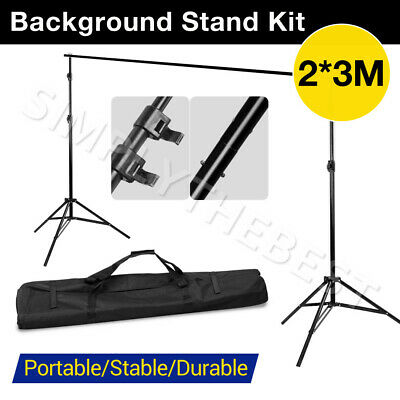 2x3M Backdrop Stand Background Support System Set Lighting Photography Studio