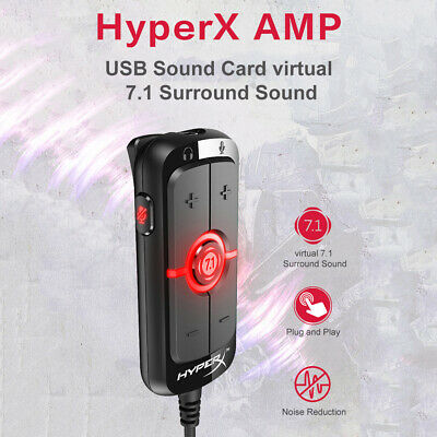 Kingston HyperX AMP USB Sound Card virtual 7.1 Surround Sound Built-in DPS Z0W1