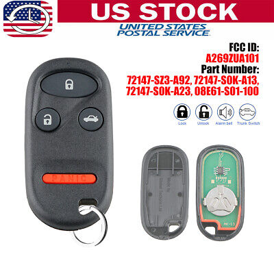 Keyless Entry Remote Key Fob Control For Honda Accord CR-V Civic A269ZUA101