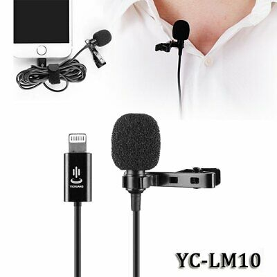 YC-LM10 Lightning Clip-on Lapel Lavalier Microphone For iPhone X Xs Max XR iPad
