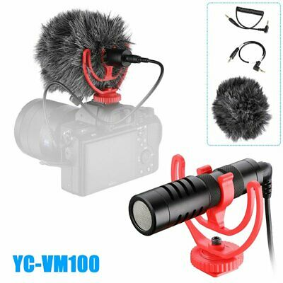YC-VM100 Cardioid Microphone Interview Audio Video Recording for Camera & Phone