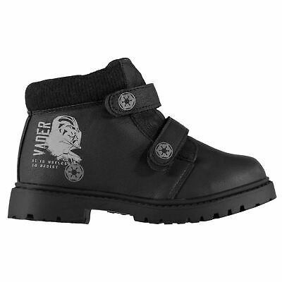 Star Wars Darth Vader Rugged Boots Childs Boys Black Shoes Boot Kids Footwear
