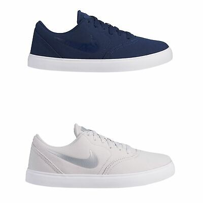 Nike SB Check Canvas Skate Shoes Juniors Boys Skateboarding Trainers Sneakers