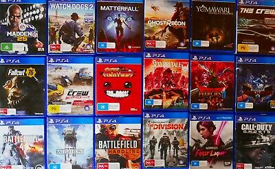 PlayStation 4 Bulk Bundle! YOUR CHOICE! PS4 Games! + FREE POST COD Star Wars Etc