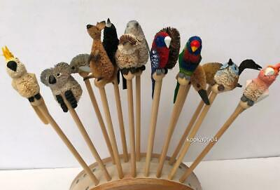Australiana Pencils Decorative Hand Crafted Bristlebrush Birds & Animals