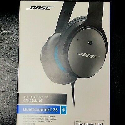 Bose QuietComfort 25 Over the Ear Wireless Headphones - Silver/Black