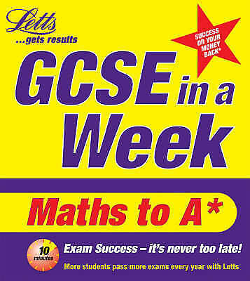 """""""VERY GOOD"""" GCSE in a Week: Maths to A (Revise GCSE in a Week S.), Brown, Cather"""