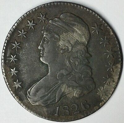 1826 50C Capped Bust Half Dollar XF Uncertified #