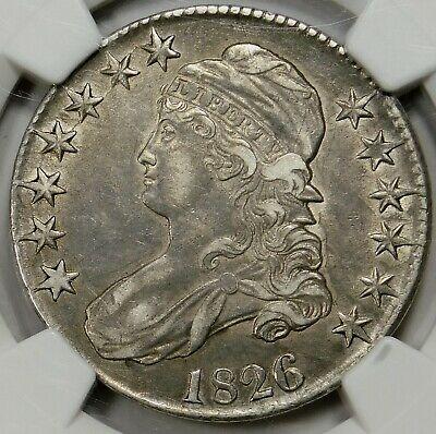 Final late die state very rare 104A(B?) NGC XF40 1826 CAPPED BUST HALF DOLLAR