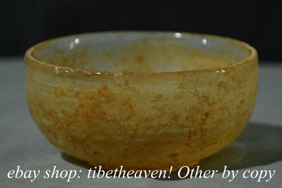 """4.8"""" Ancient Old Chinese China Crystal Dynasty Palace Vessel Bowl"""