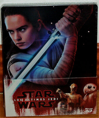 Star Wars the Last Jedi Steelbook Blu-Ray 3D +2 Blu-Ray New Sealed R2