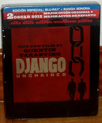 Django Unchained Unchained Blu-Ray+Soundtrack Neuf Scellé Steelbook