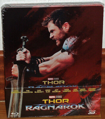Thor Ragnarok Steelbook Blu-Ray 3D + Blu-Ray New Sealed Action Figure (Unopened)