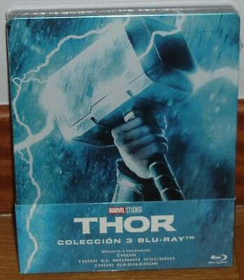 Thor Trilogie 3 Blu-Ray Neuf Scellé Steelbook Aventures (sans Ouvrir) R2