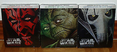 Star Wars Saga I-Ii-Iii New Sealed Steelbook 3 Blu-Ray Action Figure (Unopened)