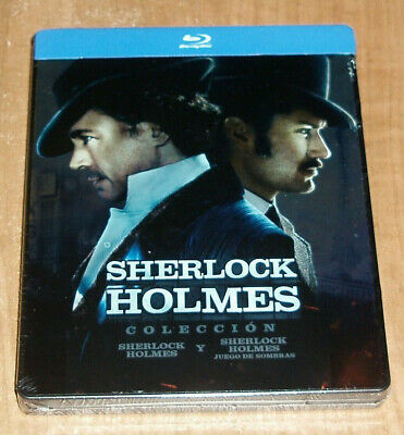 Collection Sherlock Holmes 2 Films 2 Blu-Ray Steelbook Neuf (sans Ouvrir) R2