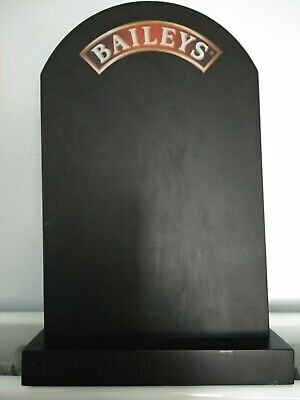 Baileys Double Sided Bar Table Top Chalk Blackboard On Stand BNIB Pub Man Cave