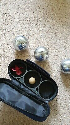 3 French Ball Stainless Steel Boules Set Petanque Outdoor Carry Case Garden Game