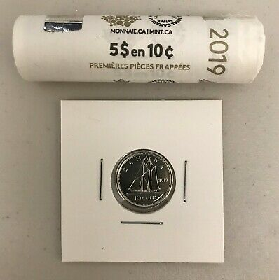 CANADA 2019 New 10 cents DIME ORIGINAL BLUE NOSE (UNC Directly from mint roll)