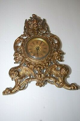 Antique Ornate Brass Standing Clock Patent Oct. 23, 1902