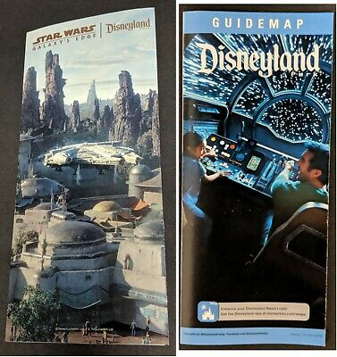 Star Wars Galaxy's Edge PROMO Disneyland Park Guide Map 2019 & NEW map