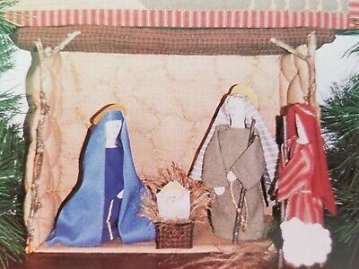 NATIVITY Come and Adore Him QUILT PATTERN Christmas Applique BUTTON WEEDS Creche