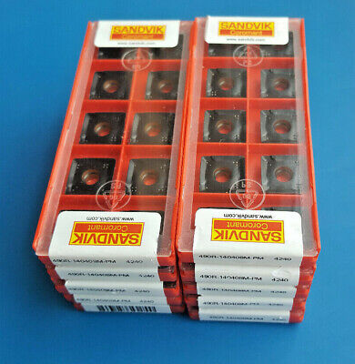 *100 pcs* SANDVIK 490R-140408M-PM 4240  *ORIGINAL* UNOPENED BOXES*