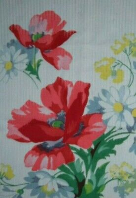 Vintage Tablecloth Wilendur Red Floral