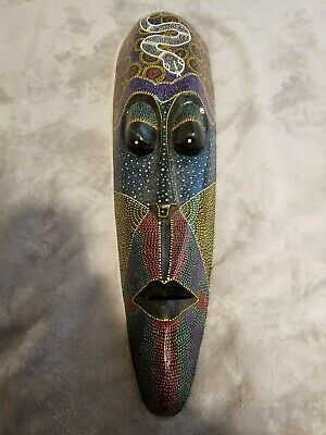 47 Snake Handcarved Dot Painted Aborigin Didgeridoo 93 00