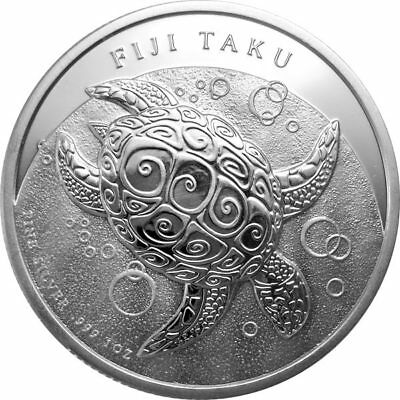1 once argent silver BU 2$ two dollars FIDJI 2013 tortue FIJI taku oz 999