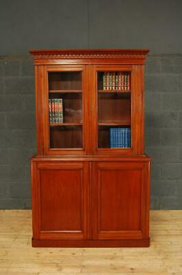 Antique Edwardian Mahogany Library Bookcase