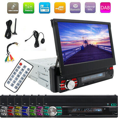 """7"""" 1Din Autoradio Touch Screen Bluetooth Stereo MP5 Player DAB+ USB AUX Autolink"""