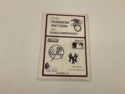 Pretty Punch MLB-02 NY YANKEES Hot Iron Transfer Pattern Punch Embroidery