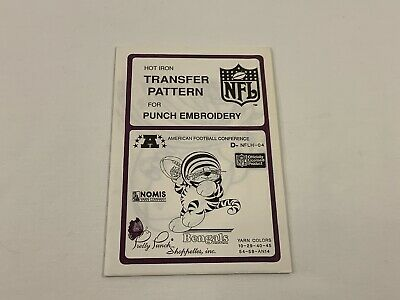 Pretty Punch NFLH-04 BENGALS Hot Iron Transfer Pattern Punch Embroidery