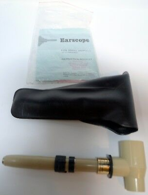 Vintage 1983 Small Animal Earscope Notoco 1983 Leather Case Instructions