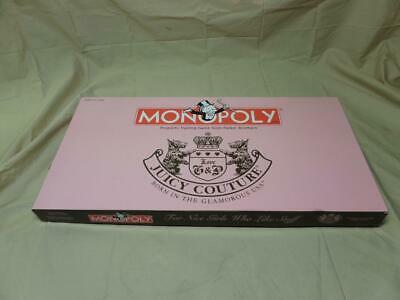 Monopoly JUICY COUTURE USA Limited Edition Board GAME Hasbro Parker Bros HTF T5