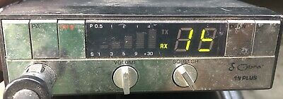 CB RADIO With MIC Cobra 18 Plus # BBO9YR. Not Fully Tested