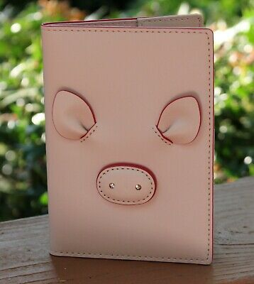 NWT Kate Spade Passport Holder Imogene Year of the Pig leather Bifold Case  $99