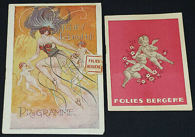 Playbills Periods & Styles Vintage Programme Theatre Folies Dramatiques 1920s