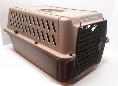 Kennel Cab II 2 Dog Cat Pet Cage Carrier Crate Travel Tote Box | Medium | Almond