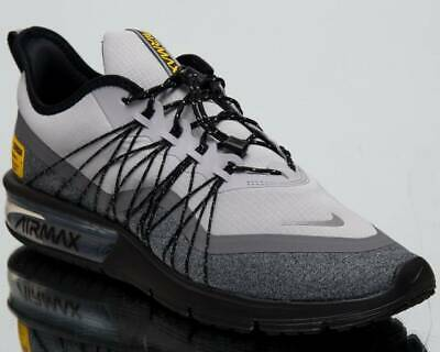 NIKE AIR MAX Sequent 3 Black Grey Running Training Shoes