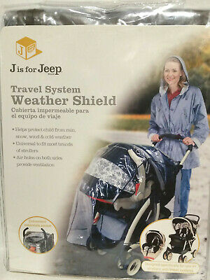 Jeep Travel System Weather (Rain, Snow, Cold) Universal Baby Stroller Shield NEW