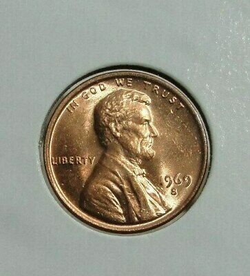 1969 S  Lincoln Memorial Cent Beautiful Red Brilliant Uncirculated ( Bu )