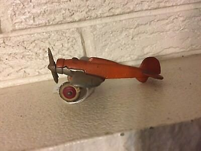 Antique Hubley Cast Iron Low Wing Pursuit Fighter Airplane 2197 Original EX